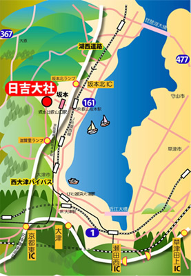 日吉大社全体図