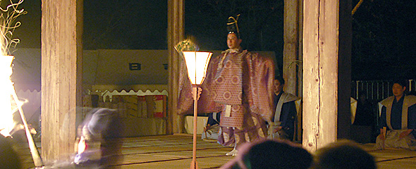 1月 大戸開神事 片山九郎右衛門社中「翁」奉納
