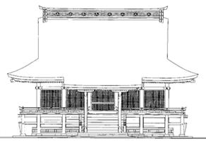 東本宮本殿 正面 立面図