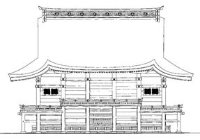 東本宮本殿 背面 立面図